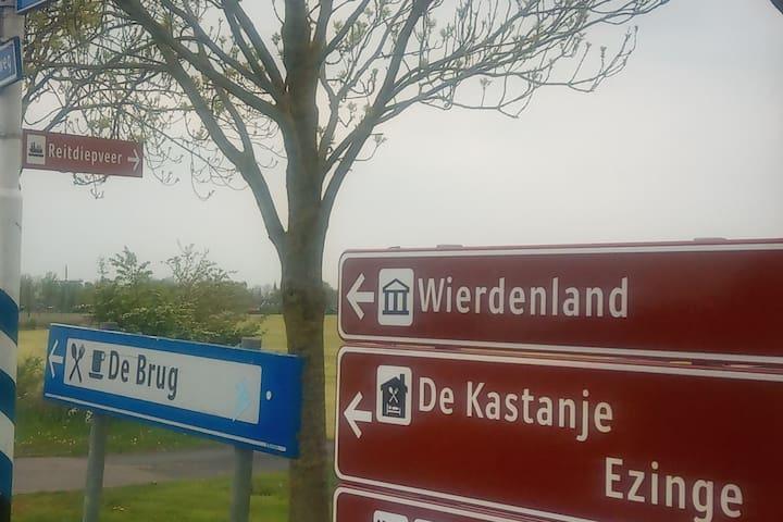 Great place in old village Ezinge, near Groningen