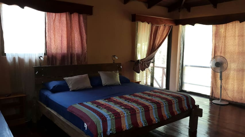 Master bedroom with balcony - Surfside, Playa Potrero  - Casa