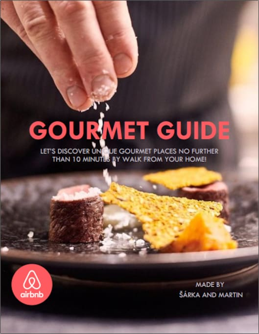 Gourmet guide in beta version available at the apartment