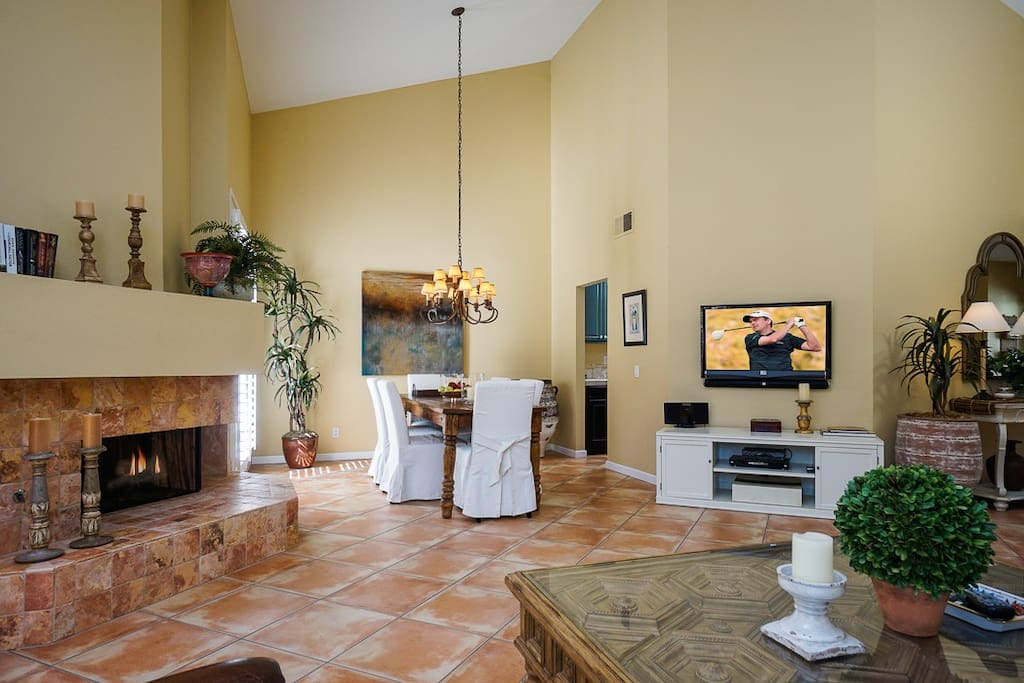 The living room opens directly onto the dining area.
