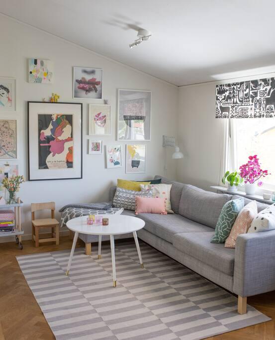 Vardagsrum, 3-sitssoffa med schäslong