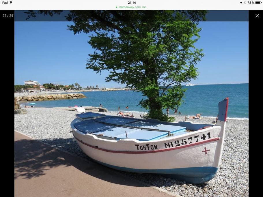 bord de mer et promenade Cagnes