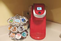 Complimentary K cup service.