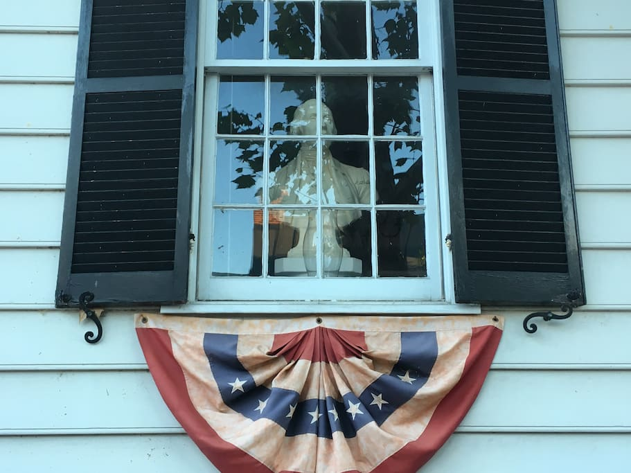 Bust of GW in Front Window