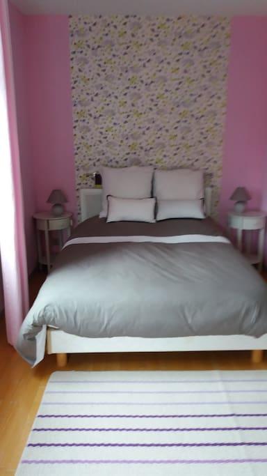 Chambre 2 double lit 140 avec balcon