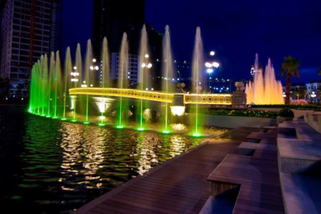 Central park at night