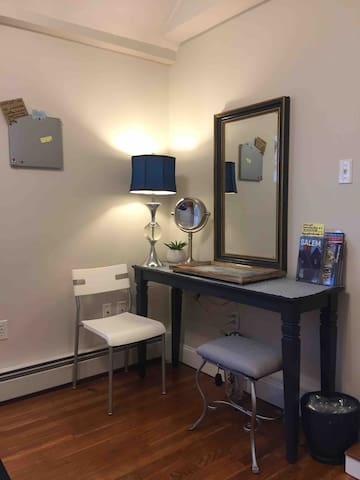 Lg vanity area or remove 2 items and use as computer work desk.