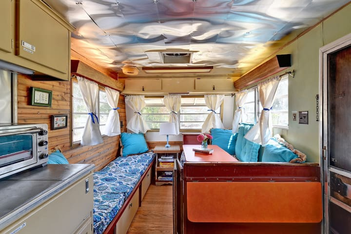 Vintage Camper Glamping on a Sustainable Farm