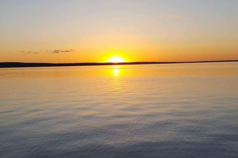 Burt Lakes Beautiful Sunset