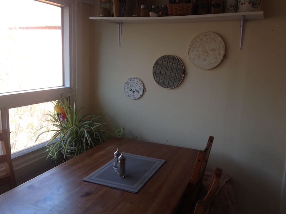 Eat-in kitchen, lots of natural light.