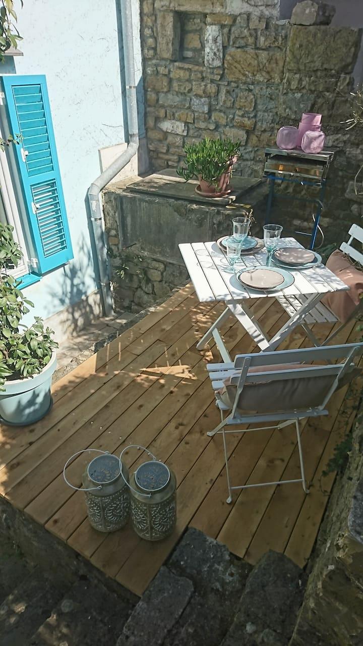 Apartma z dušo in  romantičnim majhnim  vrtom