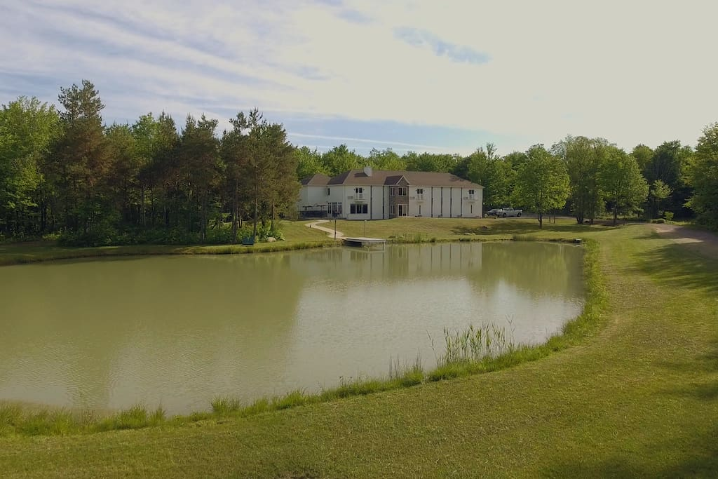 A remarkable inn on 20 gorgeous acres with pond.