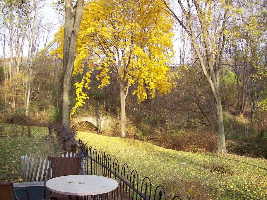 Enjoy the crisp fall air and turning leaves.