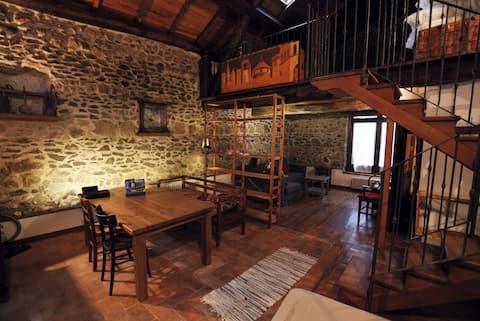 A finely restored stone farmhouse
