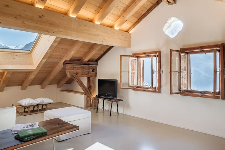 Chasa Lansel - new attic with mountain view