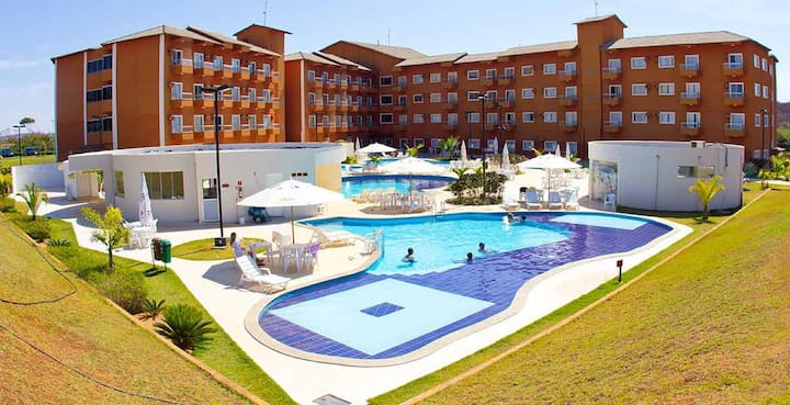 Flat no Lagoa Quente Hotel-Aconchego!Tranquilidade