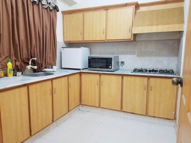 Spacious kitchen with all the basics.
