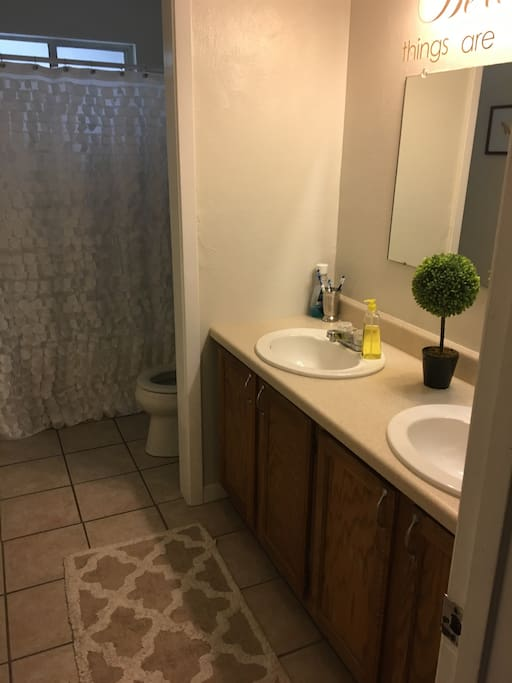 Shared bathroom if the other listings is booked.