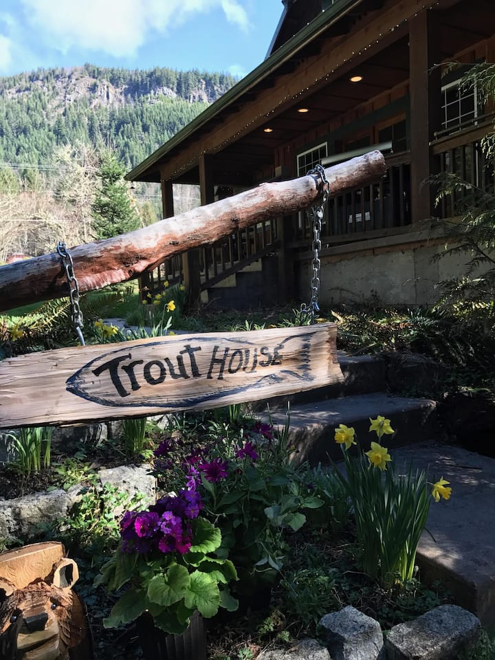 The Trout House on the road to Mt. Rainier
