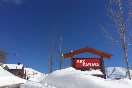 Enjoy the magic of winter and white snowARZ FARAYA