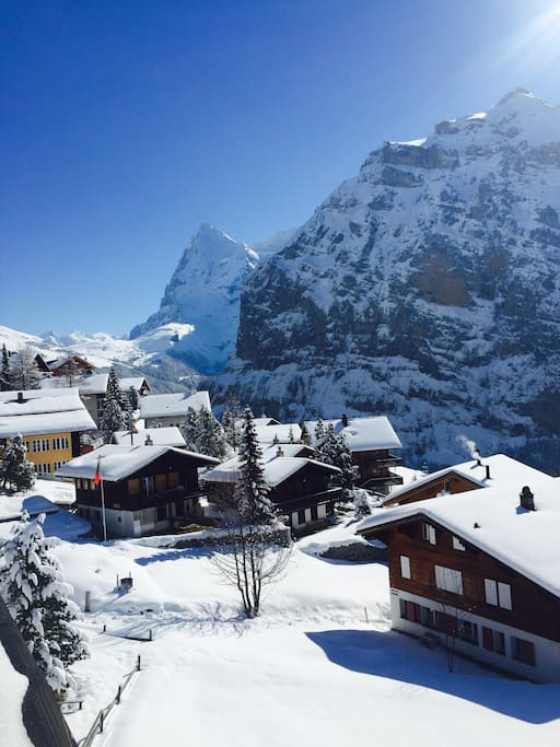 View from our balcony, towards the Eiger.