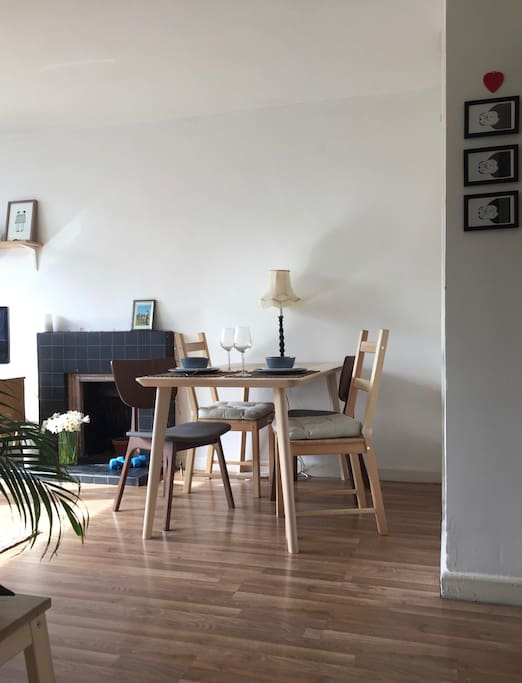 Dining area in the living room