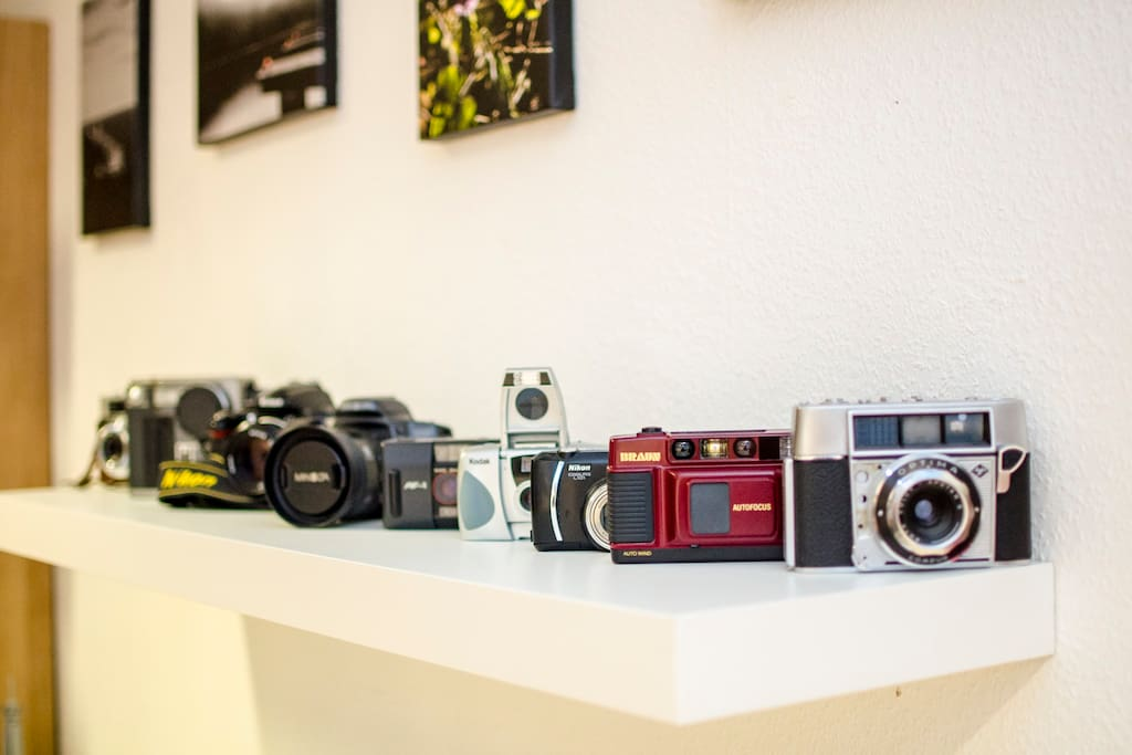 Small camera-collection / Kleine Kameraausstellung