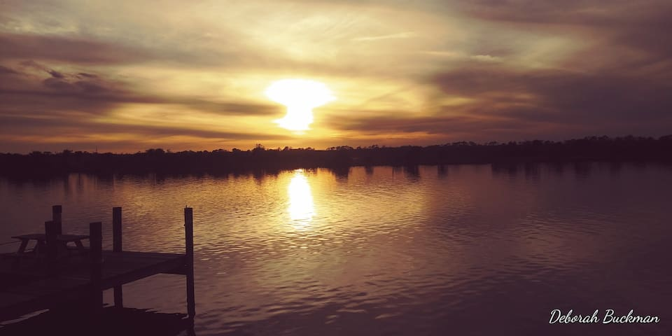 Walk to see beautiful sunsets at the Halifax River