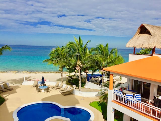 1st Floor Beach House, on a private beach