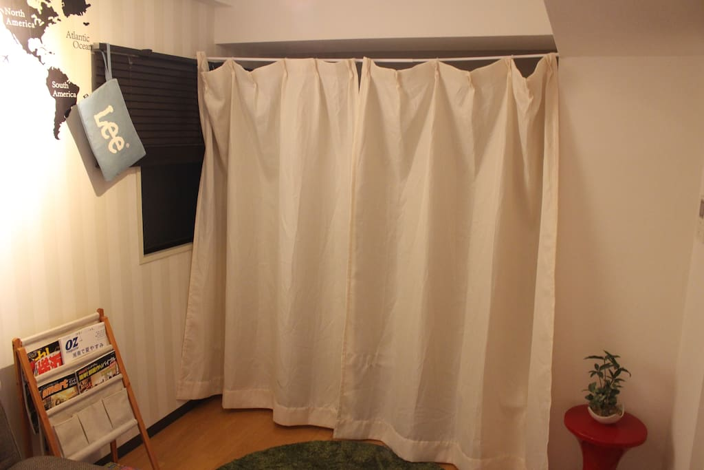 Our space and your bed space are separated by curtain.