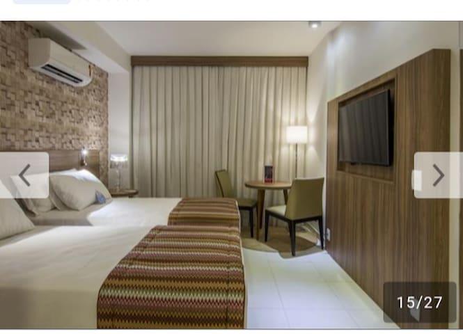 Lindo apart hotel com limpeza diária e estrutura