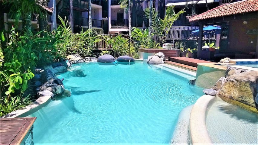 This is the pool nearest to the apartment