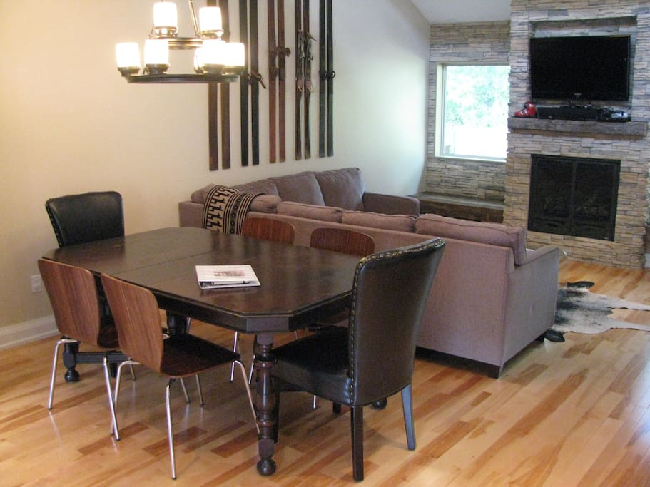 Dining and Living Room Space
