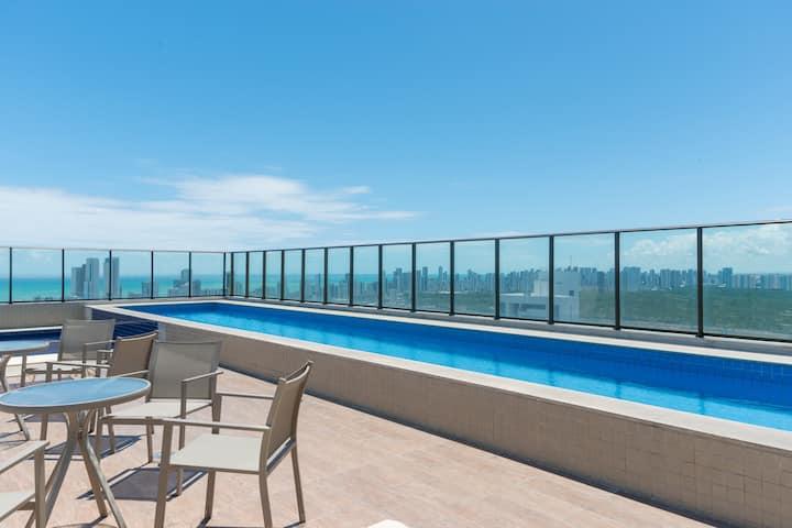 Exclusivo Easy Flat com vista BC Excelsior no Pina