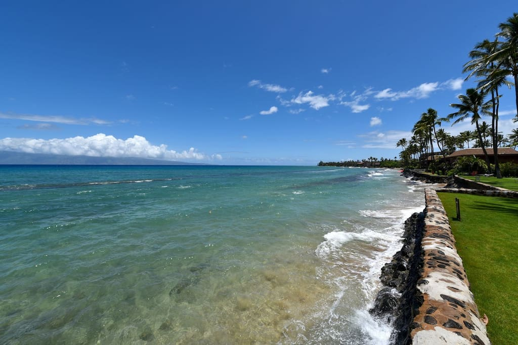 Steps away from this!  Sandy beach located on south side of the resort.