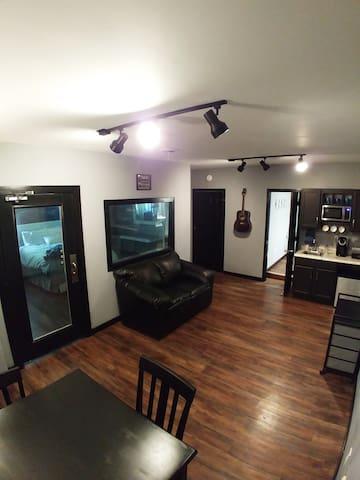 Private Music Studio Suite, Stylish Bedroom, Clean