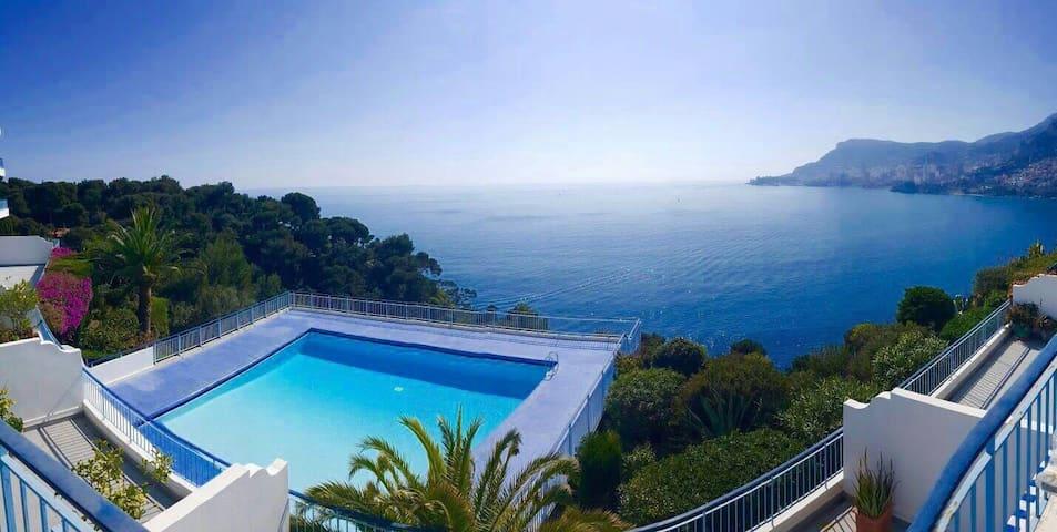 Silencieux studio avec accès piscine sur la mer - Roquebrune-Cap-Martin - Appartement