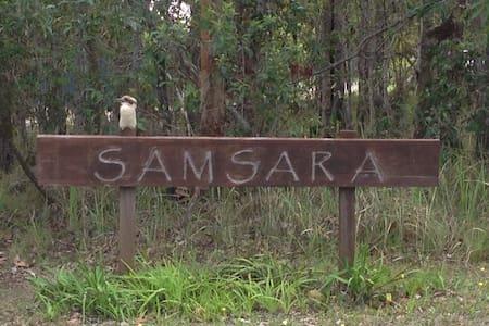 'Samsara Bush Retreat' in Yamba's Hinterland - James Creek - Blockhütte