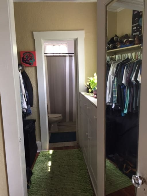Walk through closet
