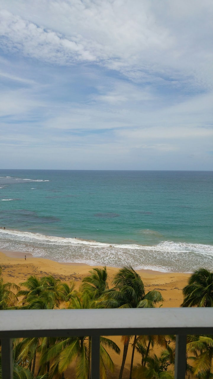 Great front beach view  from private balcony