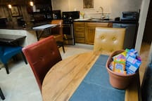 Additional dining area seating.