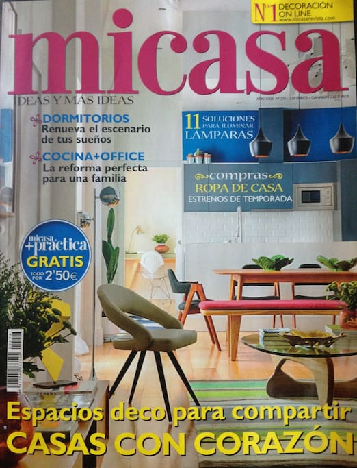 Portada revista decoración Mi Casa / cover magazine decoration