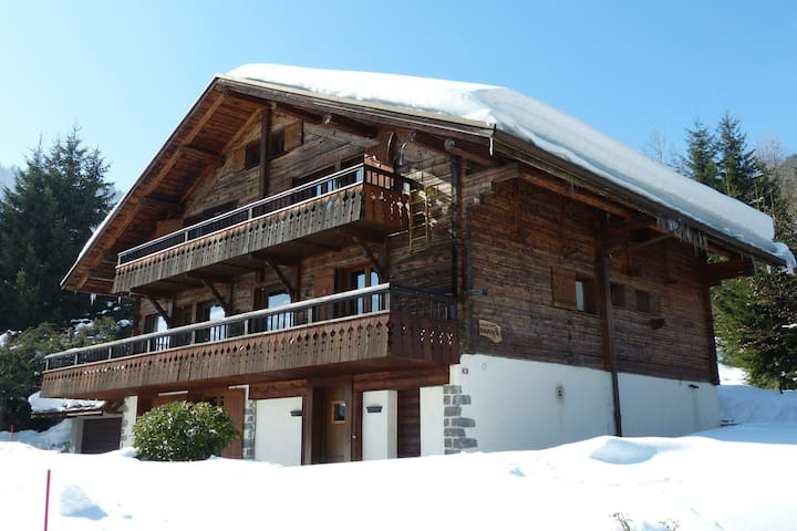 4* chalet, heart of the village, cozy style, spa, garage, Wi-Fi access