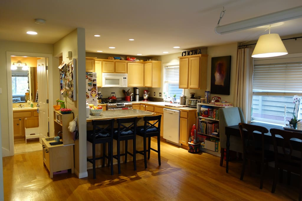 Kitchen with island bar