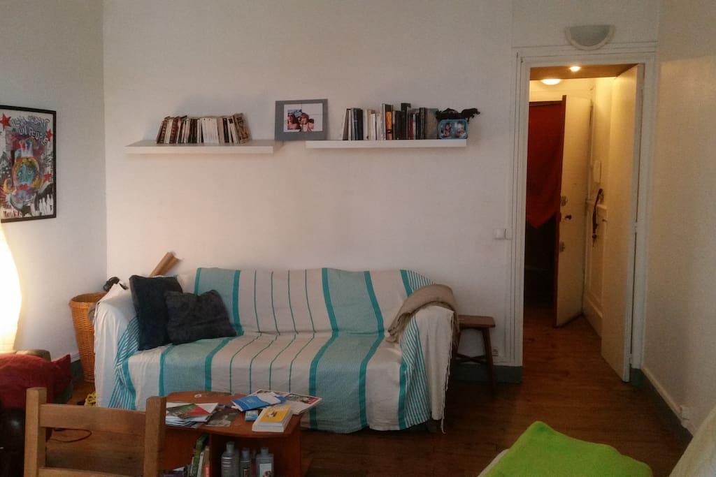 Salon avec canapé-lit / Living-room with bed-sofa