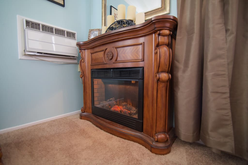 Fireplace & Air Conditioning