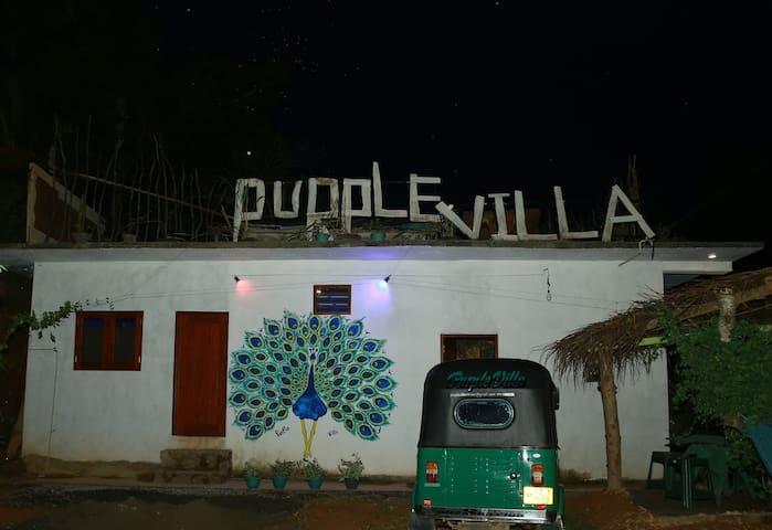 Purple villa calm place