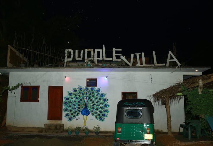 Purple villa calm place
