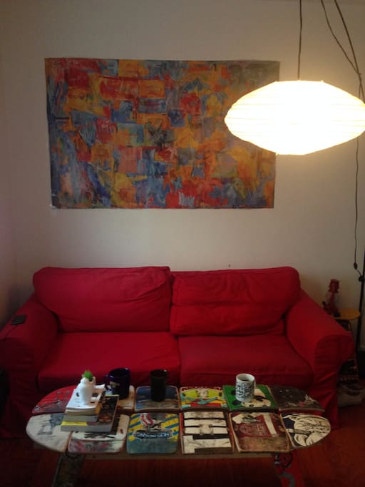 Couch in the private room