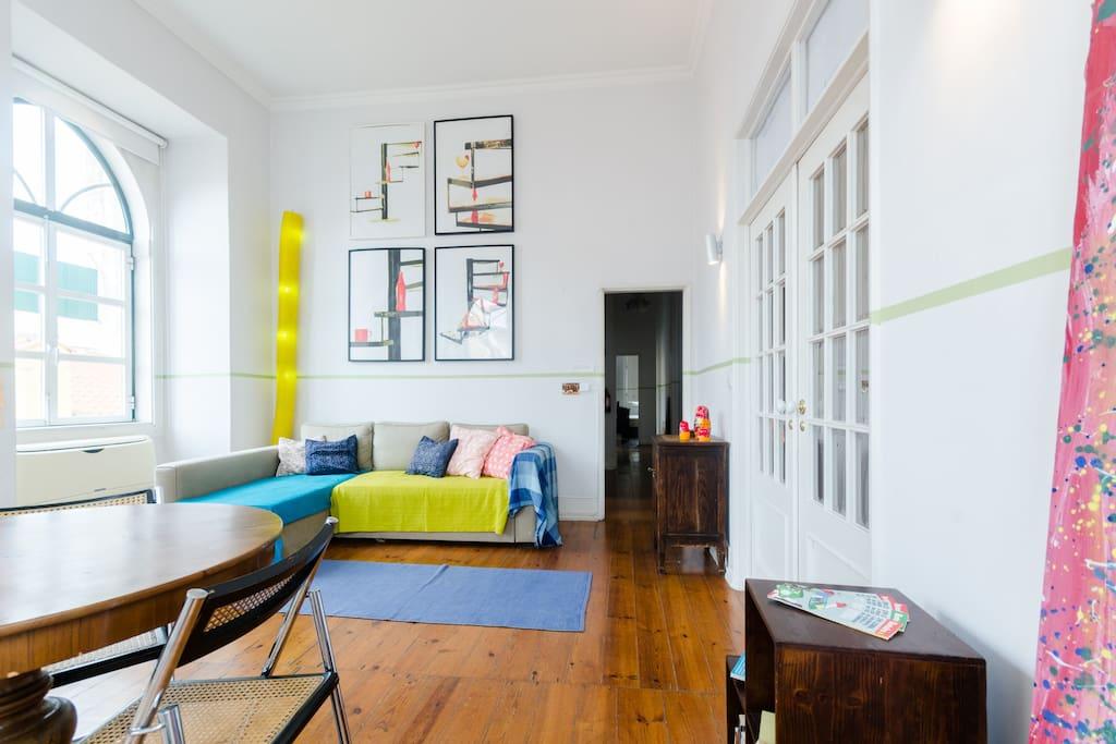 Confortável quarto de casal Centro Apartamentos para  ~ Quarto Casal Lisboa Alugar